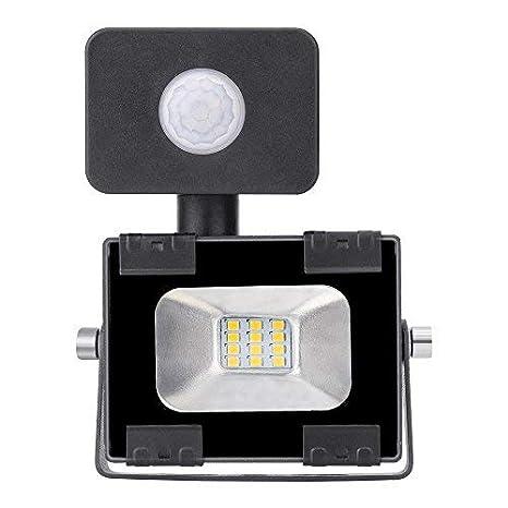 10w Foco led exterior con Sensor Movimiento ,Led Proyector para ...