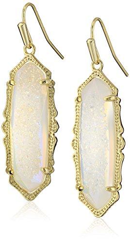 Kendra Scott ''MysticBazaar'' Gold Iridescent Drusy Fran Drop Earrings by Kendra Scott