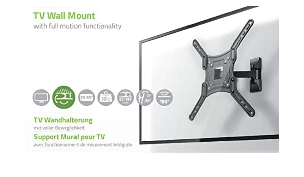 TronicXL - Soporte de pared para televisores de 23-55 pulgadas Hitachi 43HB6T62 40he4001 Televisor 39hb4c01 50HYT62U 49he4000 55hl7000 32he2000 49HK6000 32HE1000 55HK6000 43HK6000 32hb4t61 Full Motion: Amazon.es: Electrónica