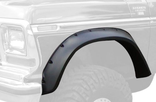 Bushwacker 20013-11 Ford Cut-Out Fender Flare - Front Pair (Front Flares Out Cut)