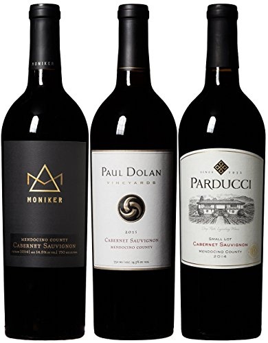 Mendocino Wine Company Cabernet Sauvignon Wine Mixed Pack, 3 X 750 mL