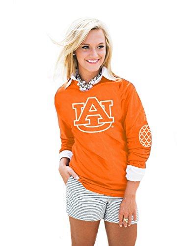 NCAA Auburn Tigers Women's Puff Print Elbow Patch Tee, Small, ()