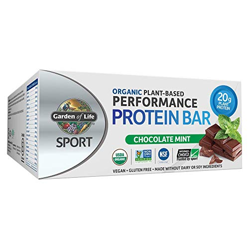 (Garden of Life Organic Sport Protein Bar, Vegan, Chocolate Mint, 12 Count)