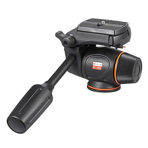 Andoer Hydraulische Flüssigkeit Videokopf mit Quick Release Plate für Nikon Canon Olympus DSLR Kamera Camcorder Stativ Tripod Filmemachen