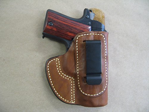 Azula IWB Molded Leather Concealed Carry Holster Kimber Micro 9 9mm CCW TAN RH (Best Small 9mm For Ccw)
