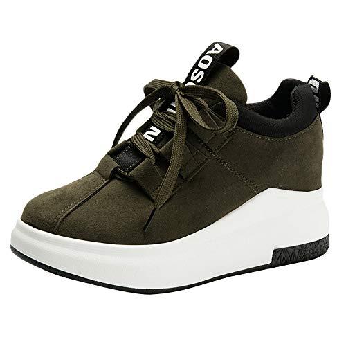 Vert Dcontractes Chaussures Semelles De Holywin Plates Baskets D'extrieur Sport Plateforme Respirantes paisses Pour Femmes 6OBxHnq1Sx