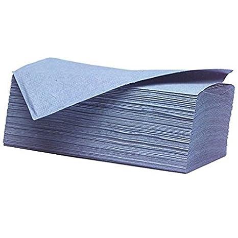 Oypla C/Fold - Toalla de mano (papel plegable, 2400 hojas, 1 capa, plegable, barata), color azul: Amazon.es: Hogar