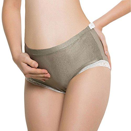 AiSheYouPin Anti-Radiation Women Under The Bump Maternity Panties