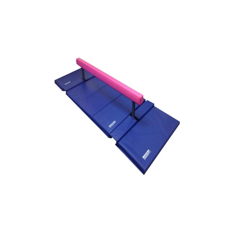 The Beam Store 10 Feet Adjustable Balance Beam and Blue Mat Combo, Pink