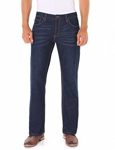 Indigo alpha Stretch Straight Fit Denim Jeans For Men (Indigo Stretch Denim)