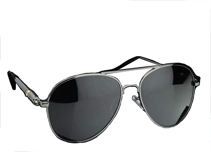 393d60e9cd Image Unavailable. Image not available for. Colour  Silver New Mens Aviator Sunglasses  Polarized Outdoor Driving Mirror Fishing ...