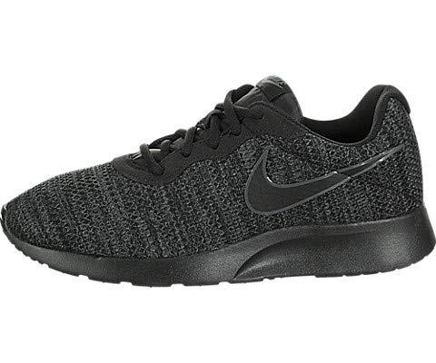 NIKE Men's Tanjun Premium Running Sneaker Black/Black 9.5
