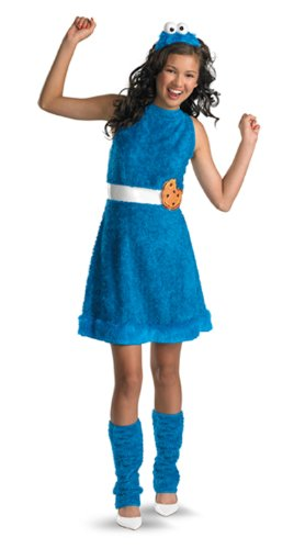 Street Girl Costume (Sesame Street Cookie Monster Teen Girls Costume, X-Large/14-16)
