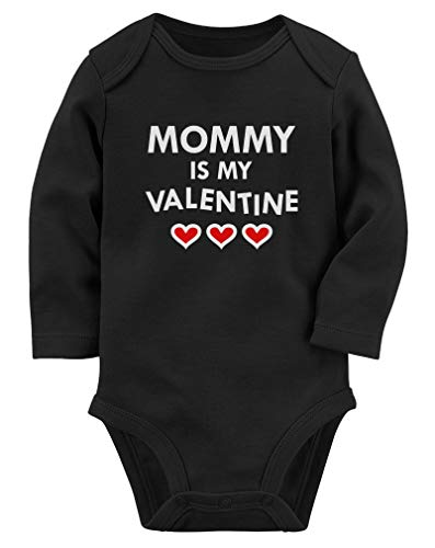 Tstars Mommy is My Valentine Mom & Infant Baby Long Sleeve Bodysuit 12M Black