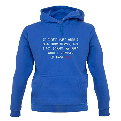 It Didn't Hurt When I Fell from Heaven - Unisex Hoodie - Royal Blue - S