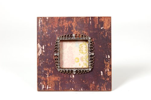 Wilco Imports Jeweled Brown Distressed Frame, 7-3/4-Inch by 3/4-Inch by - Frames Wilco