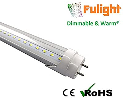Fulight Dimmable & Warm ¤ T8 LED Tube Light - 3 Foot 14W (25W Equivalent), Warm White 3000-3500K, F25T8, F30T8, F30T12/WW, Double-End Powered, Milky/Clear Cover - 110-120VAC