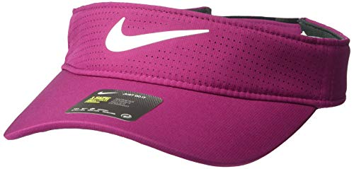 Nike Women's Aerobill Visor, True Berry/Anthracite/White, Misc