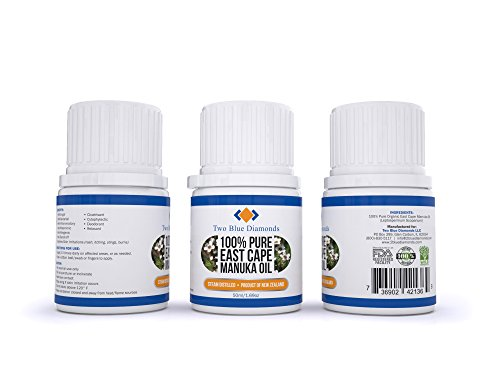 50ML / 1.691OZ Manuka Oil Anti Fungal Antiseptic Fight Acne Foot Fungus 100% East Cape Natural Leptospermum Scoparium Onychomycosis
