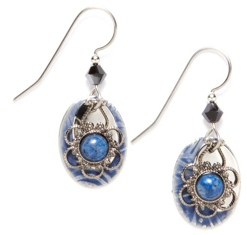 Silver Forest Denim & Lapis Drop Earrings One (Denim Lapis Ring)