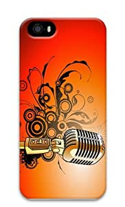 sparkle cover microphone vector art PC Case for iphone 5/5S