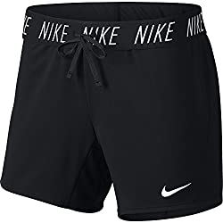 "Nike Women's Dry Attack Trainer 5"" Athletic Shorts, Blackwhite, Large"