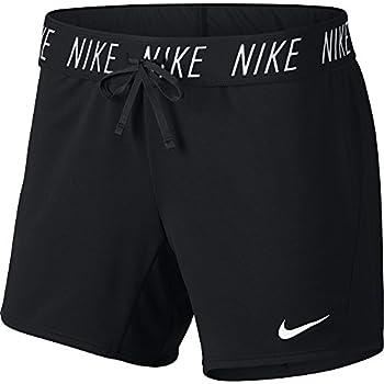 "Nike Women's Dry Attack Trainer 5"" Athletic Shorts, Blackwhite, Large 0"