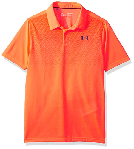 (Under Armour Boys Youth Thread Borne Polo Shirt, After Burn (877)/Techno Teal, Youth Medium)