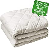 Organic Crib Mattress Protector GOTS Certified Organic Cotton Mattress Pad Topper Fitted Cover Cotton Quilted Fill Noiseless Breathable Non Toxic Hypoallergenic Unbleached No Chemicals Safe (28'x52')