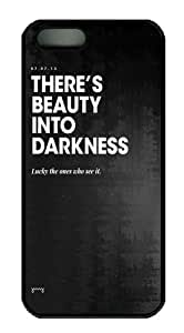 iPhone 5/5S Cases & Covers Beauty Into Darkness Design PC Case Cover Protection for the Apple iPhone 5/5s Black