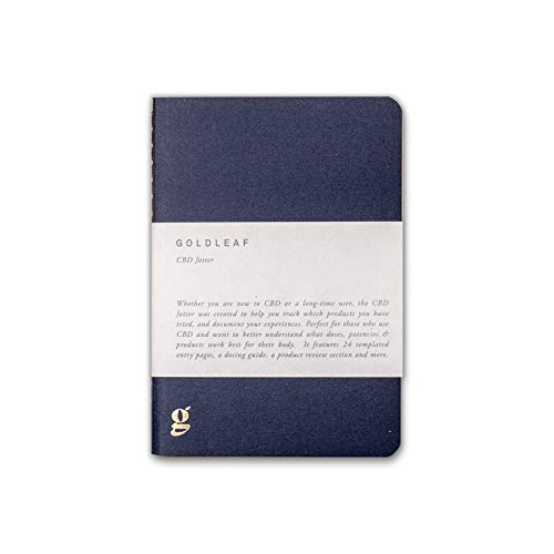 Goldleaf CBD Jotter: A Cannabis Wellness Logbook, Marijuana Patient Notebook, CBD Extract, Edible & Concentrate Therapy Diary, Guided Pages and Infographics, Pocket A6 Size