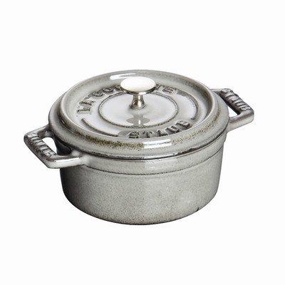 Staub Mini Round Cocotte, Graphite Grey, 0.25 qt. - Graphite Grey