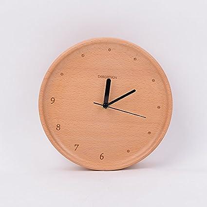 OLILEIO reloj de madera originales, personalidad de la Moda creativa silencio minimalista moderno salón dormitorio