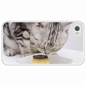 iPhone 4 4S Black Hardshell Case muzzle White Desin Images Protector Back Cover