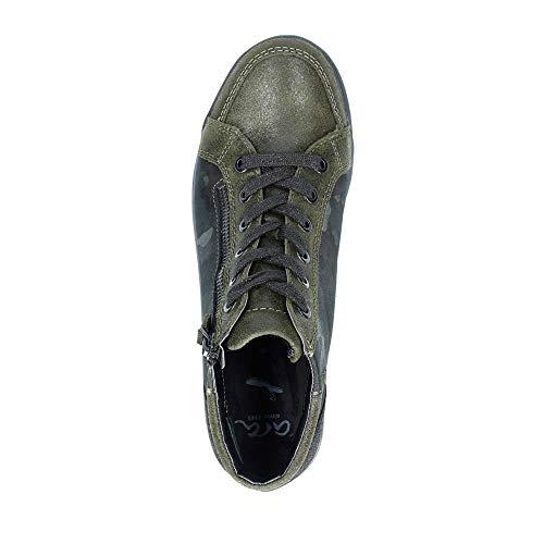 Zapatos Cuero Kombi 75 Verde 60041 Cordones De Ara Para Grün 237 Mujer vqRtHw11Y