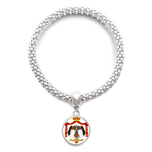 DIYthinker Jordan Asia National Emblem Sliver Bracelet Round Pendant Jewelry Chain by DIYthinker