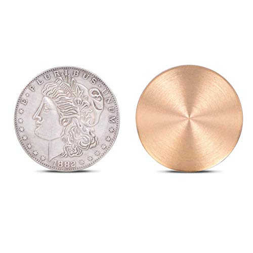 Expanded Shell for Appearing/Disappearing Magic Accessories for Coin Magic (1pc Shell + 1pc Morgan -