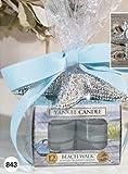 Yankee Candle Starfish Tea Light Gift Set with a Tea Light Holder and 12 BEACH WALK Scented Tea Lights