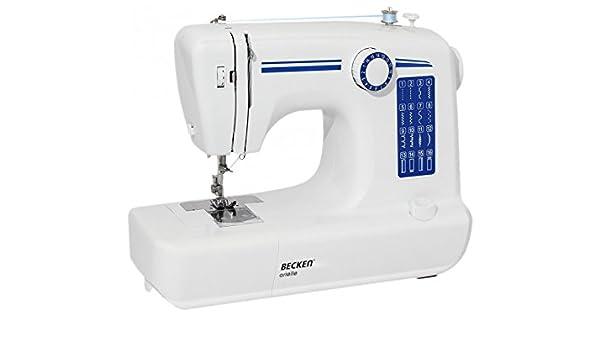 BECKEN - Máquina de Costura Arielle Blanco/Azul: Amazon.es: Hogar