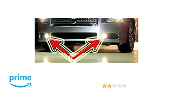 Amazon.com: 2009-2010 NISSAN MAXIMA NON-HALO FOG LIGHTS driving lamps 3.5s 3.5 sv: Automotive