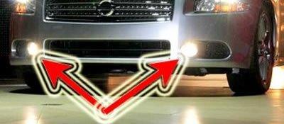 2009-2010 NISSAN MAXIMA NON-HALO FOG LIGHTS driving lamps 3.5s 3.5 sv