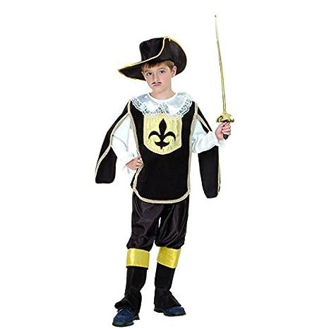 Costume Moschettiere nero oro bambino 10 a 12 anni  Amazon.it ... 3f543327eb15