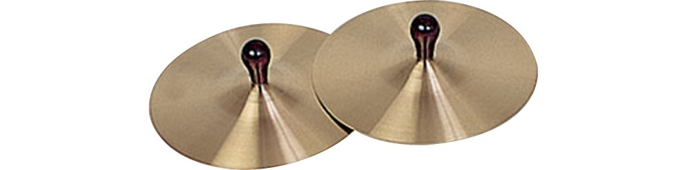 Rhythm Band Brass Cymbals with Knobs 7'' Pair With Handles