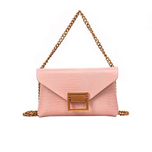 (LONGDAY  Sling Bag Multiway Casual Daypack Chest Bag Handle Bag Crossbody Bag Messenger Bag Clip On Adjustable Strap Pink)