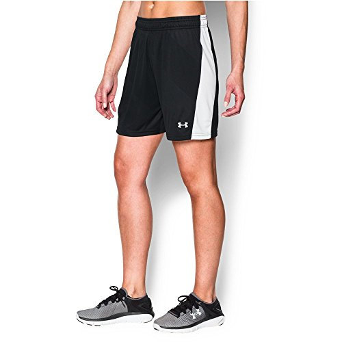 Under Armour Women's The UA Fixture Short, Black/White, Small