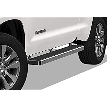 """Fit 07-18 Tundra CrewMax Extended Crew Cab Chrome 5/"""" Oval Straight Side Step Bar"""