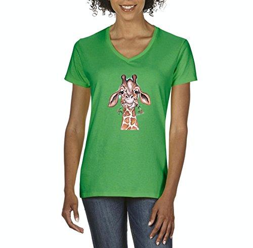 Giraffe T-Shirt Giraffe Animal Lover Birthday Gift Womens Shirts (Abc Swing)