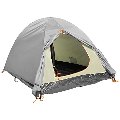 YUEBO Backpacking Tents 2 Person Lightweight Waterproof Double Layer Camping Tent with Carry Bag