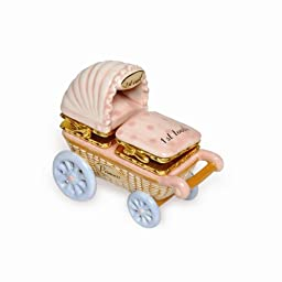 Mud Pie Baby Little Princess Double-Hinged Ceramic Treasure Box for First Tooth and First Curl