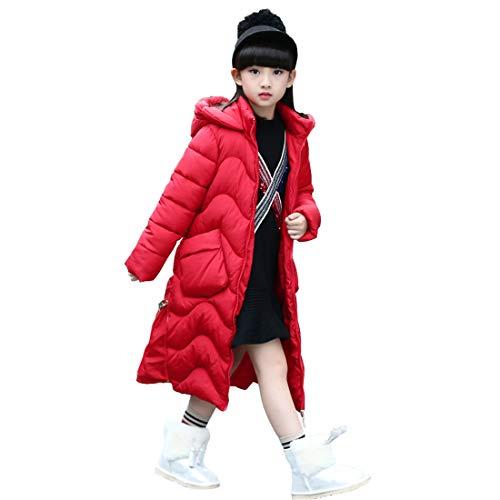 DorkasDE Winterjas voor meisjes, gewatteerd, met katoen gevoerde jas met capuchon